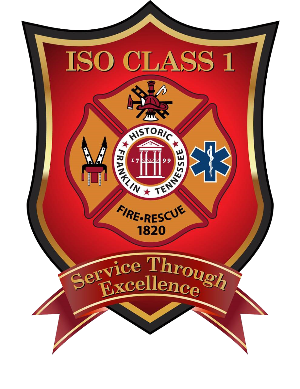 ISO Class 1 badge transparent background