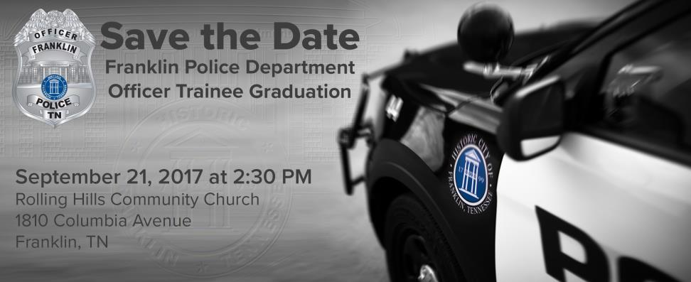 September 21st Police Officer Trainee Graduation