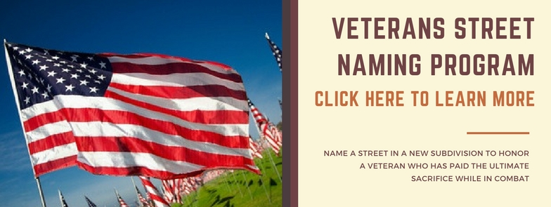 Veterans Street Naming Program, click here for information
