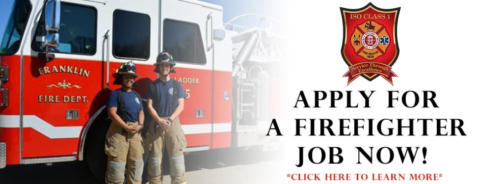 APPLY FOR A FIREFIGHTER JOB NOW