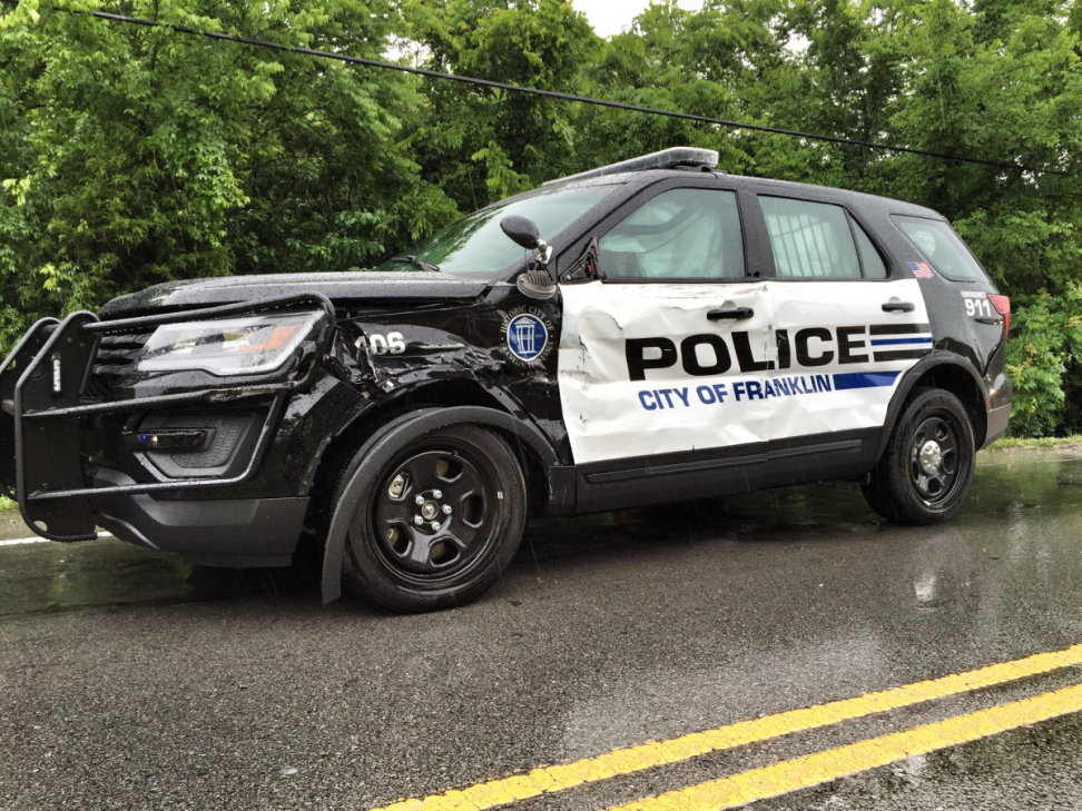 Officer injured in W  McEwen crash | Police Department News