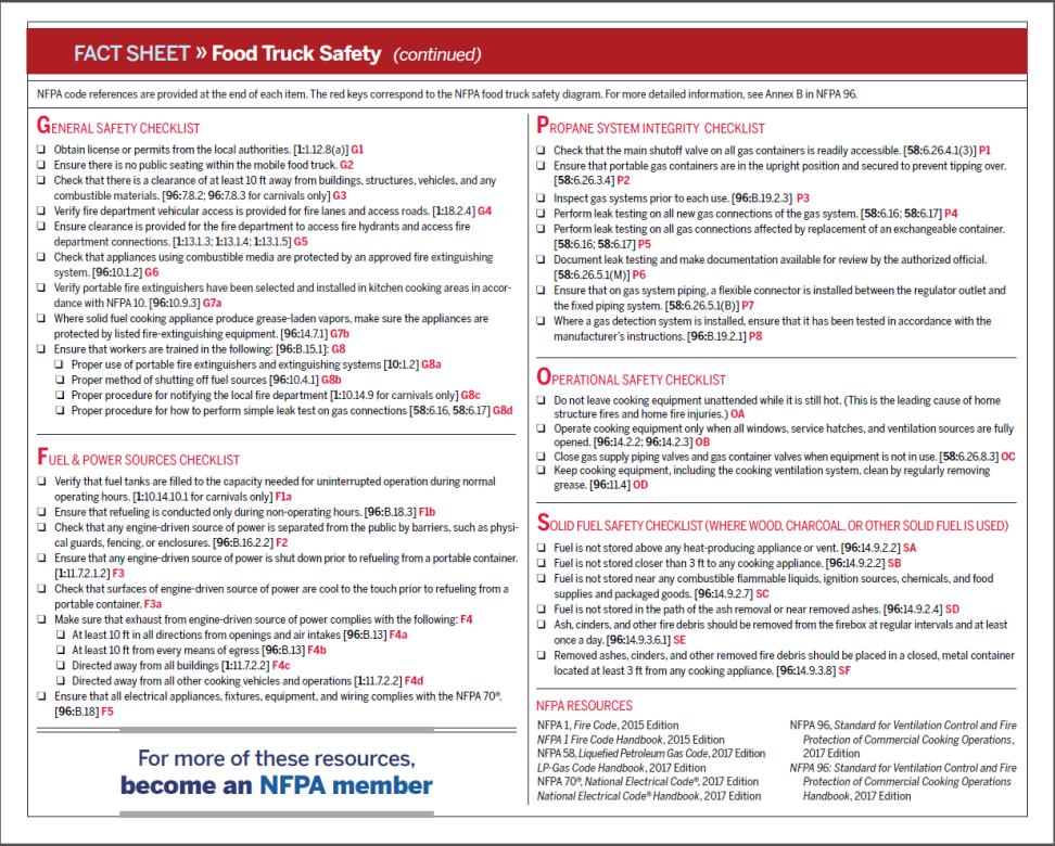 NFPA Food Truck Safety 2