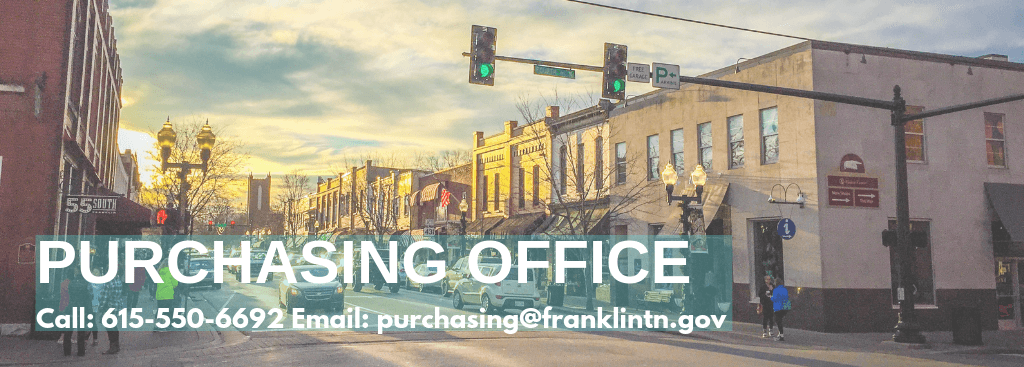 Purchasing Office Banner