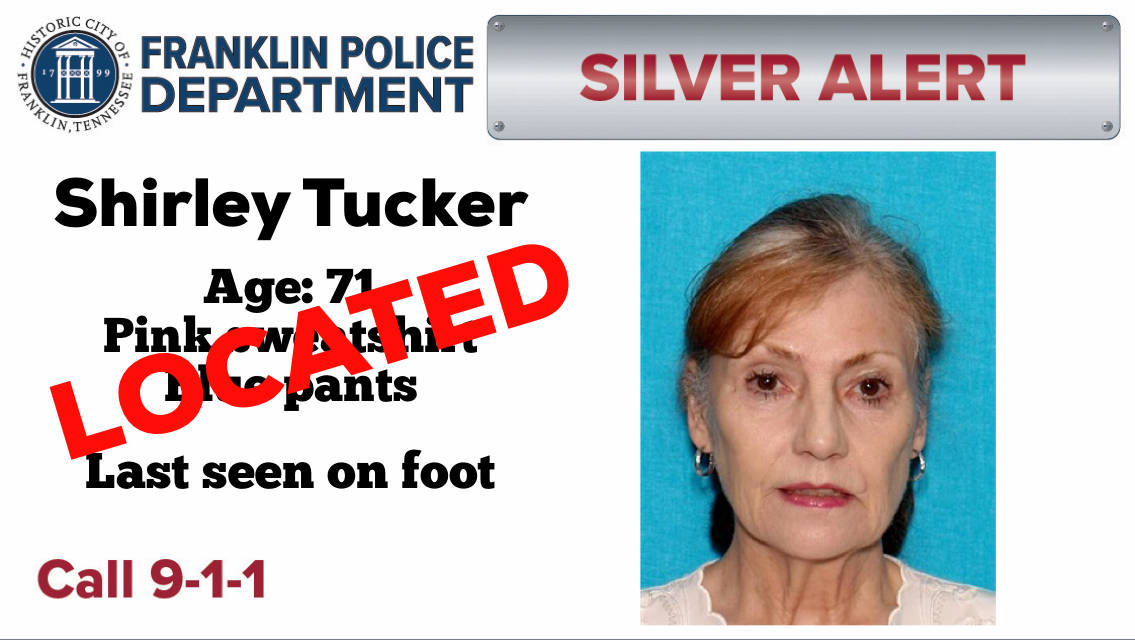 Silver Alert CANCELED: Shirley Tucker located and safe
