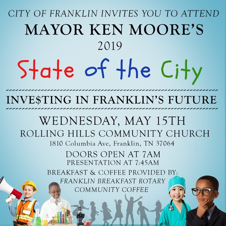Mayor Ken Moore Gives State of the City Speech, Wednesday, May 15