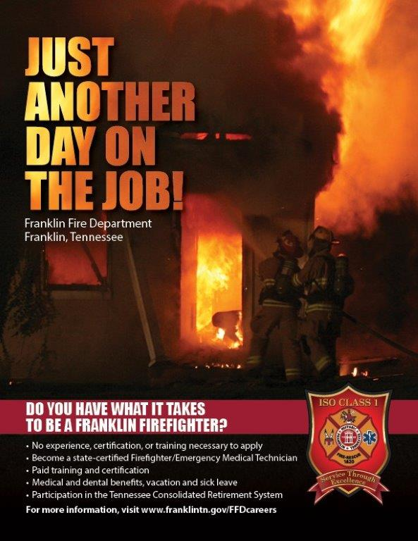 Franklin Fire Department Recruitment Flyer