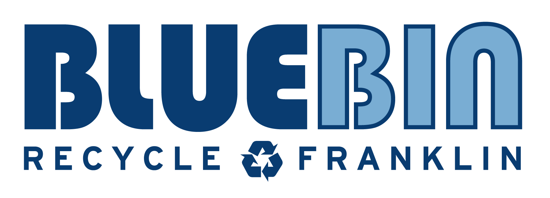 Blue bin logo for recycling