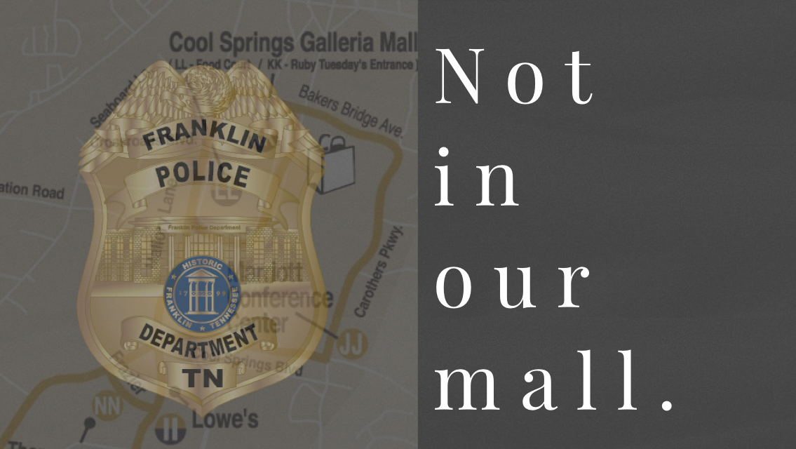 Operation #NotInOurMall in full swing, through Christmas