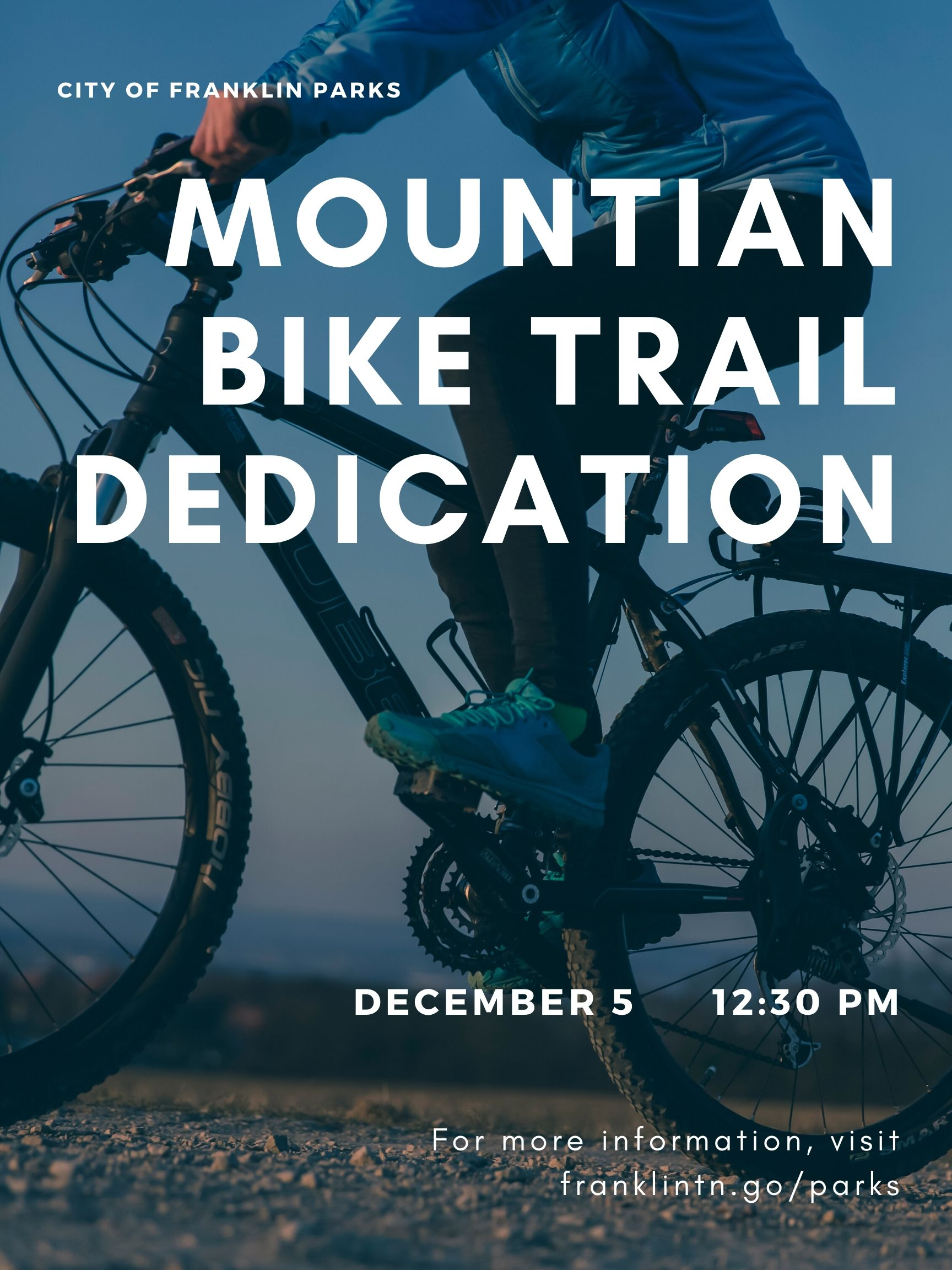Mountain Bike Trail Grand Opening Flyer