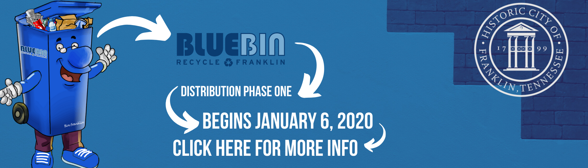 Blue Bin Phase One Starting on January 6, 2020 banner