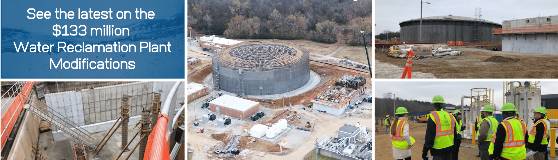 See Updates happening at the Water Reclamation Plant Graphic