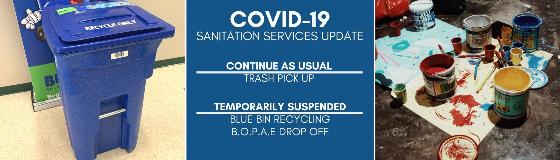 COVID-19 sanitation services update