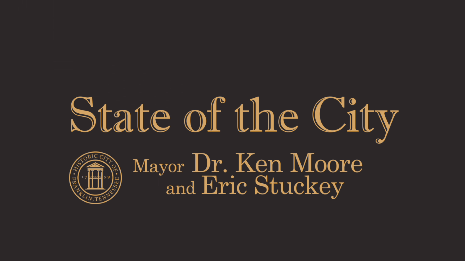 Franklin's First Virtual State of the City Address Scheduled for May 15th
