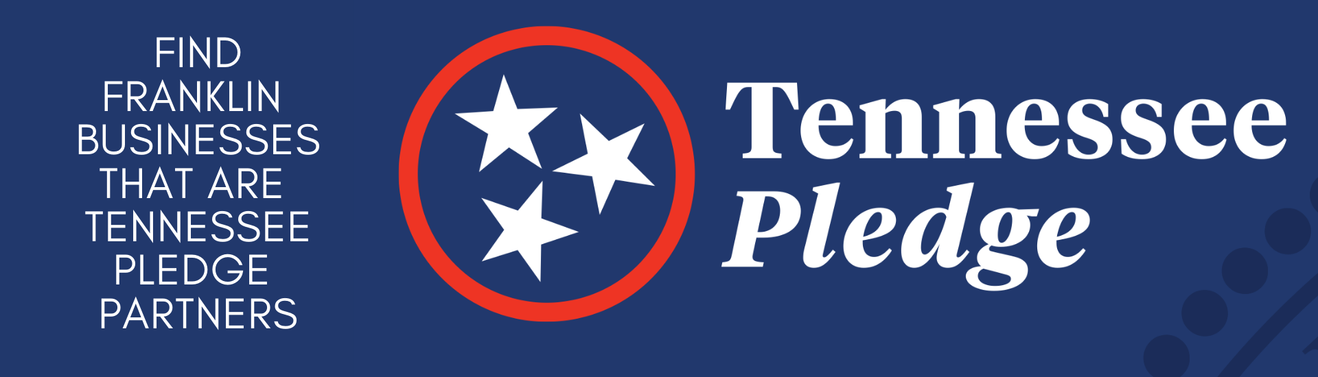 Banner about Tennessee Pledge Partners