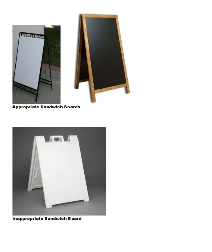 Example Sandwich Boards