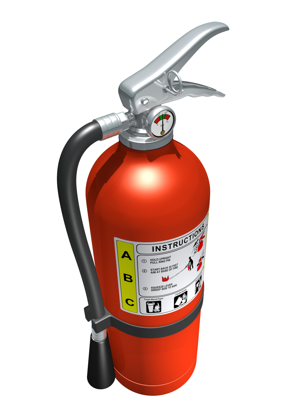 Illustration of a red fire extinguisher
