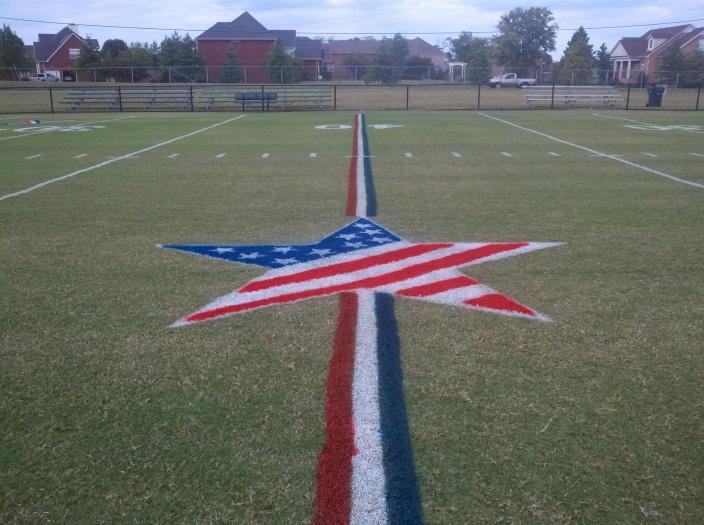 Patriotic Field Art
