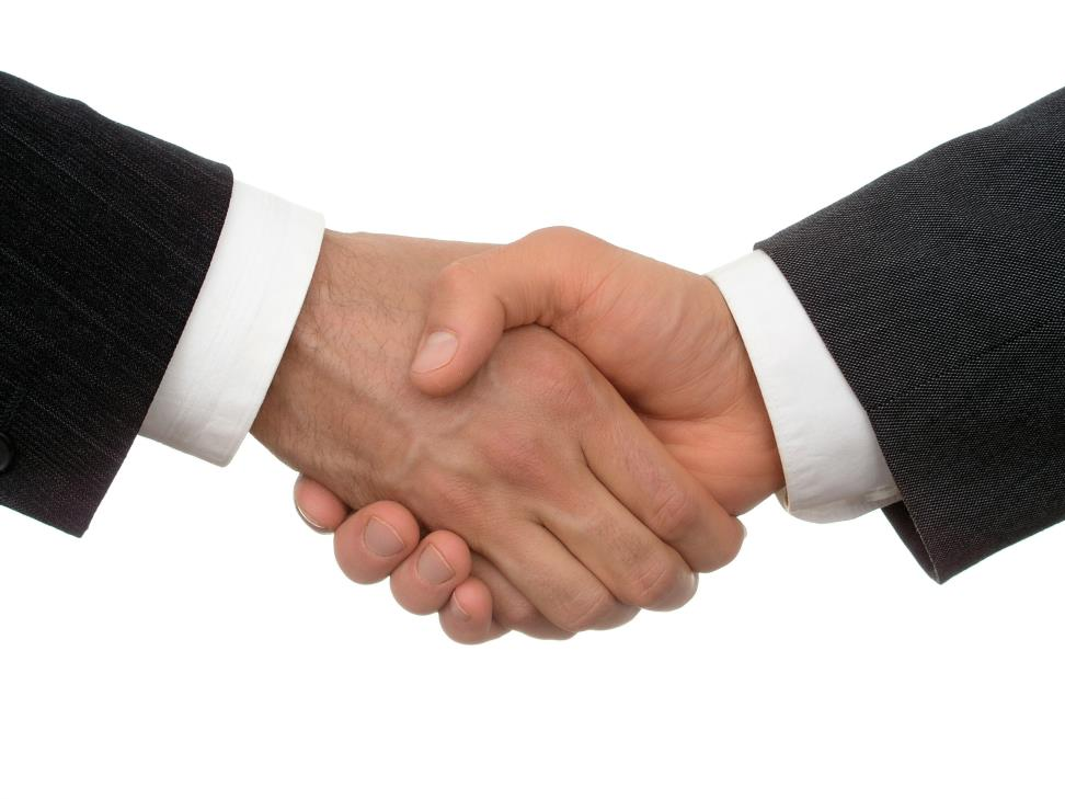 Photo of a hand shake